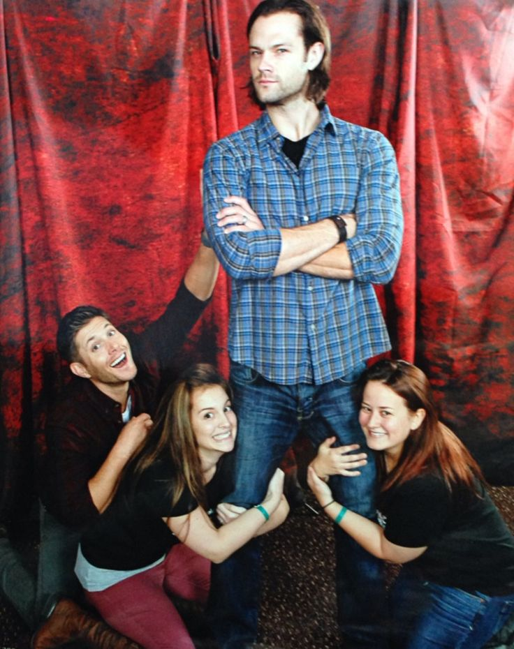 """""""codependentbrothers: we asked jensen to stand behind us looking jealous and then this happened"""""""