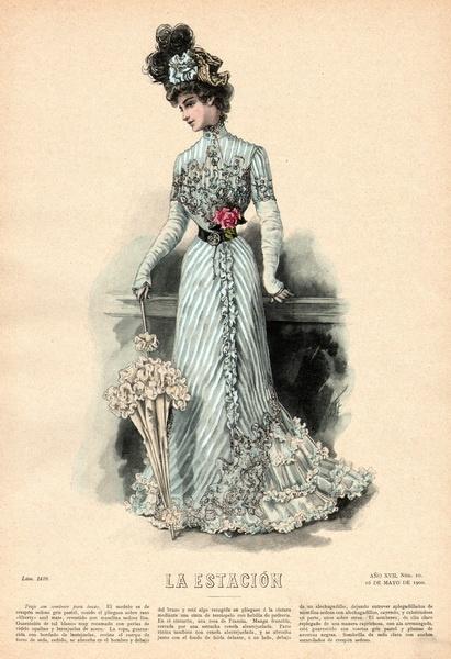 May 16, 1900 Fashion Plate ~ La Estacion