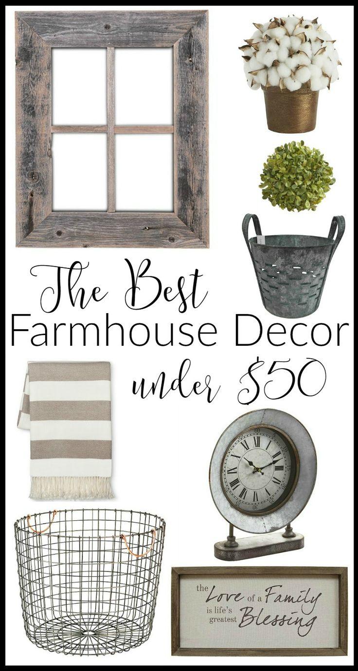The Best Farmhouse Decor Under $50