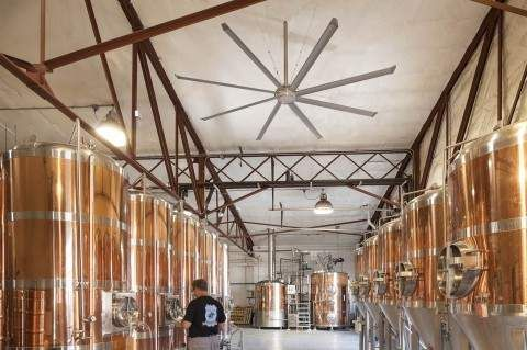 Commercial Ceiling Fans at Brewery Lower Costs, Raise Comfort | Big Ass Fans