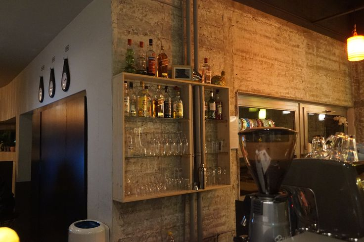 Bar #interiordesign #interior #berlin #berlintrip #germany #bar #art #design #diy #diyproject #shelves #hotel #reception