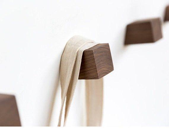 Solid Wooden Hook Decorative Wall Hook Coat Hook Hangers Wall Etsy In 2020 Decorative Wall Hooks Wall Hooks Wall Hanger