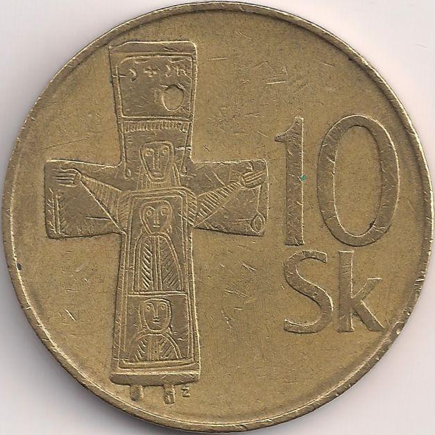 Wertseite: Münze-Europa-Mitteleuropa-Slowakei-Korún-10.00-1993-2008