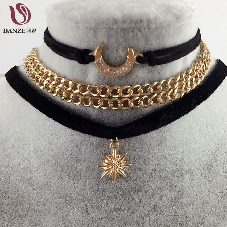 Sailor Moon Danze 3 Pcs/Lot Gothic Handmade Gold Color Double Chain Velvet Choker Pandent Necklace //Price: $10.00  ✔Free Shipping Worldwide   Tag your friends who would want this!   Insta :- @fandomexpressofficial  fb: fandomexpresscom  twitter : fandomexpress_  #shopping #fandomexpress #fandom
