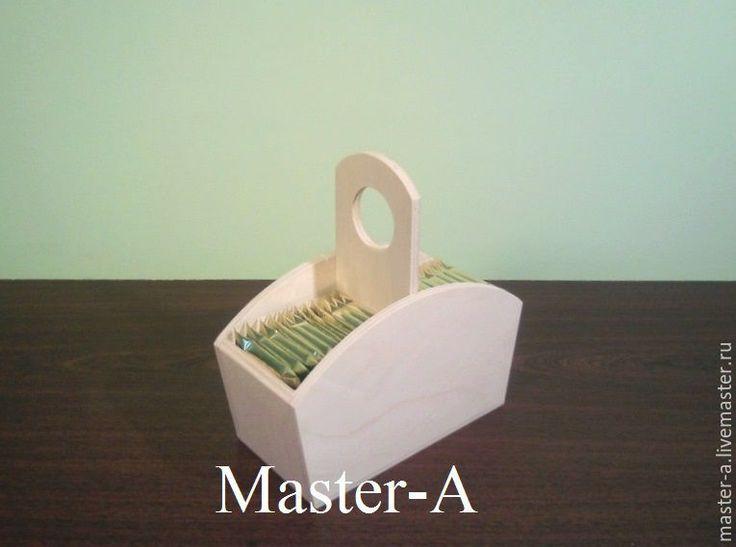 Купить Чайная корзинка №1 - заготовка для декупажа - короб, корзинка, корзина, подарочная корзина, корзиночка