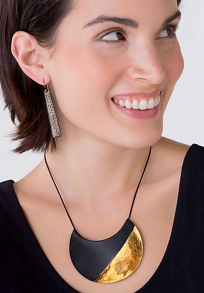 Crescent+Necklace by Syra+Gomez: Ceramic+Necklace available at www.artfulhome.com