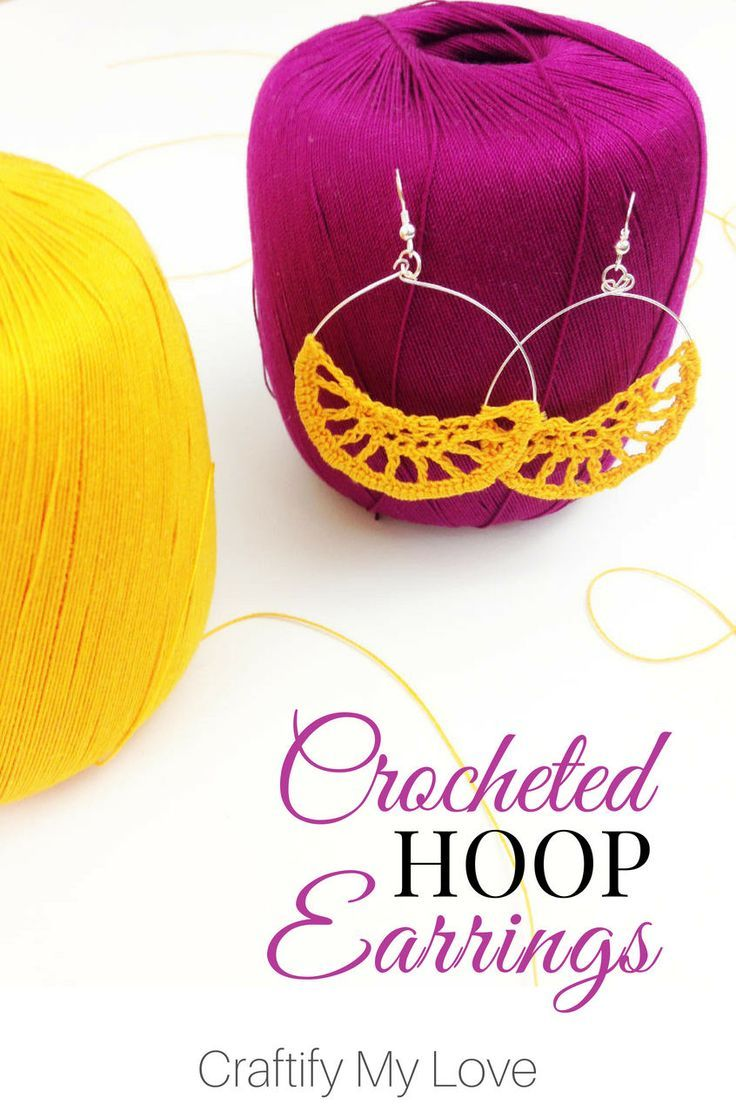 Crocheted Boho Hoop Earrings Craftify My Love | DIY+ Lover of Life + Food