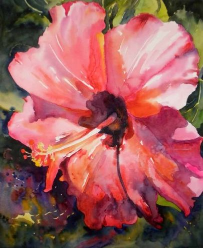 kay smith artist   ... Hibiscus, original painting by artist Kay Smith   DailyPainters.com