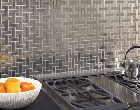 MetalArt Stainless Steel. Matrix Series: Backsplash Tile, Metals Tile, Metals Silv Tile, Matrix Metalart, Backsplash Ideas, Kitchens Backsplash, Florida Tile, Metalart Tile, Metalart Matrix