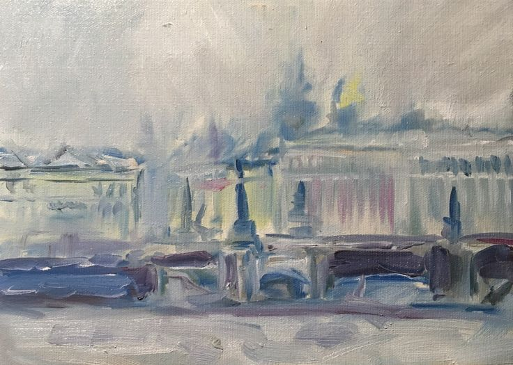 A personal favourite from my Etsy shop https://www.etsy.com/listing/479206631/oil-painting-on-canvas-city-landscape