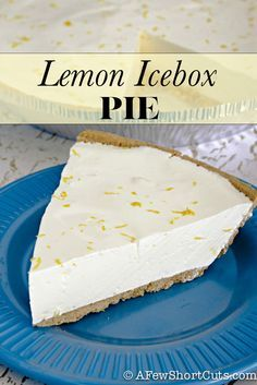 Sometimes you just need a quick and easy dessert! This is perfect for summer! Lemon Icebox Pie Recipe