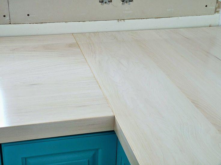 Diy Wood Countertops Tutorial Very Thorough Refinish Countertopskitchen Countertopswork Bencheswraparoundcounter