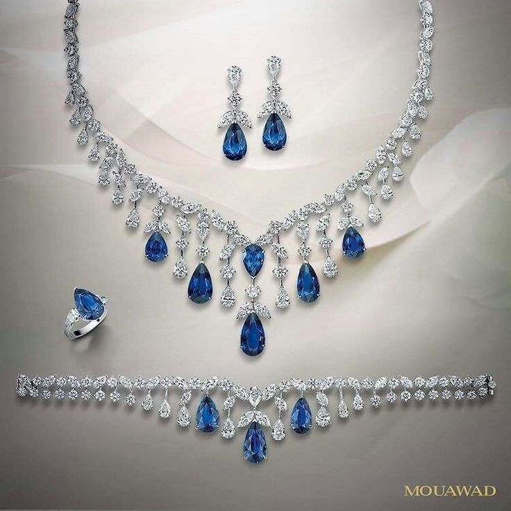 @mouawadjewelry. The mesmerizing hue of blue #sapphires from the heart of Sri Lanka enlivens the purity of white #diamonds in the Blue Serena masterpiece.