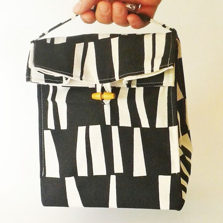 Lunch bag reusable lunch bag eco friendly by PipPottageDesigns