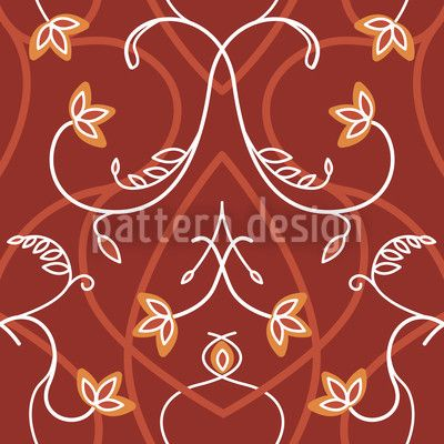 Red Tendrillars created by Martina Stadler offered as a vector file on patterndesigns.com