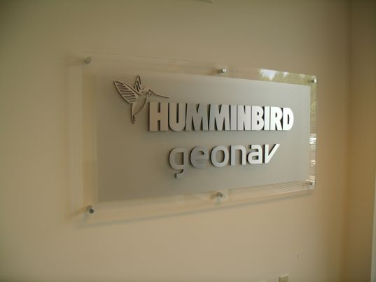 Lobby Sign 3-D Letters on Acrylic with Standoffs