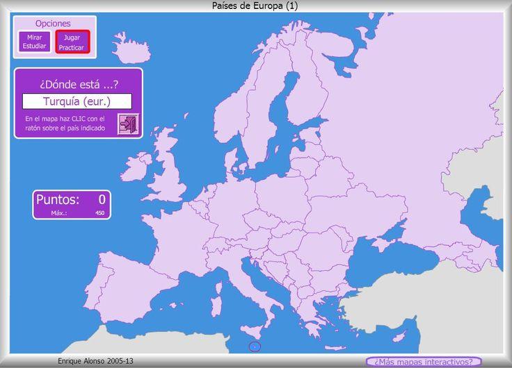 Juego Países de Europa (1) - Mapa Flash interactivo - Enrique Alonso