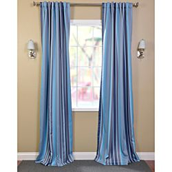 """Cornflower blue walls, yellow comforter (debatable, could get a coordinated color) & these curtains?  Would have to hem them so they are only 60"""" or so..."""