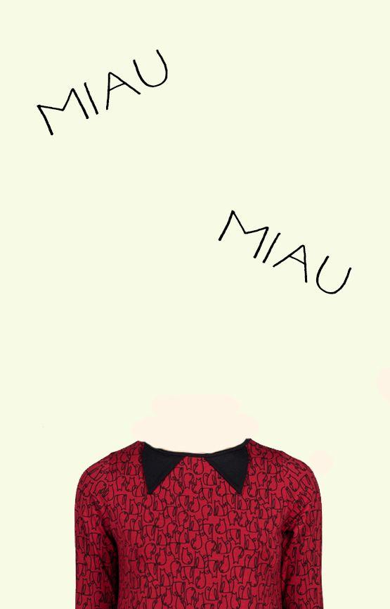 Camiseta estampada con orejitas de gato. #Casual #RopaMujer #InstintoBcn