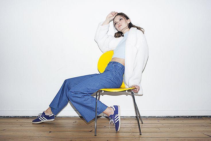 Top: Wood Wood, Jacket: Vintage, Pants: H&M Trend, Shoes: Adidas Samba