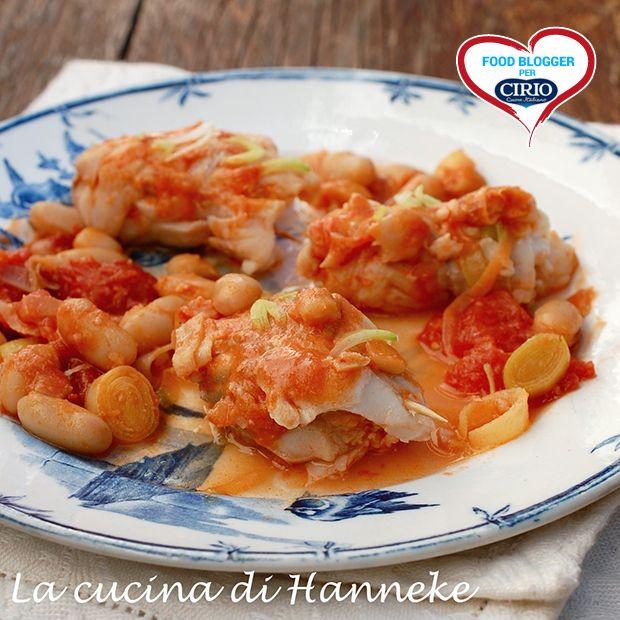 #Involtini di #pesce con #cannellini, #porri e pomodoro | Cirio @hannekeharkema #foodblogger #pomodoro #ricetta #recipes #tomato #recipe #italianrecipe
