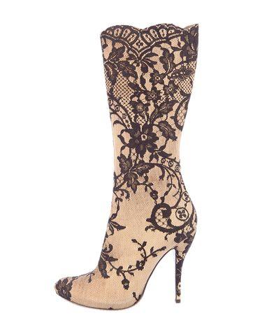 Alexander McQueen Lace Boots
