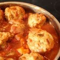 Turkey Meatball crockpot casserole.