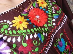 yucatecan floral embroidery design - Google Search