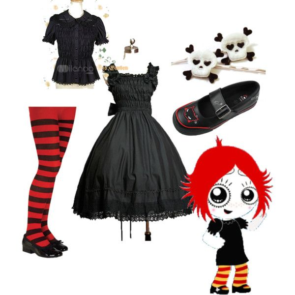 """""""ruby gloom"""" by rockkitty300 on Polyvore.. I'm thinking next year's Halloween!"""