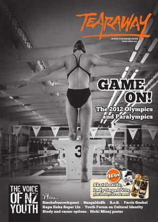 Tearaway - Term 3 | 2012 with swimmer, Sophie Pascoe, on the cover!