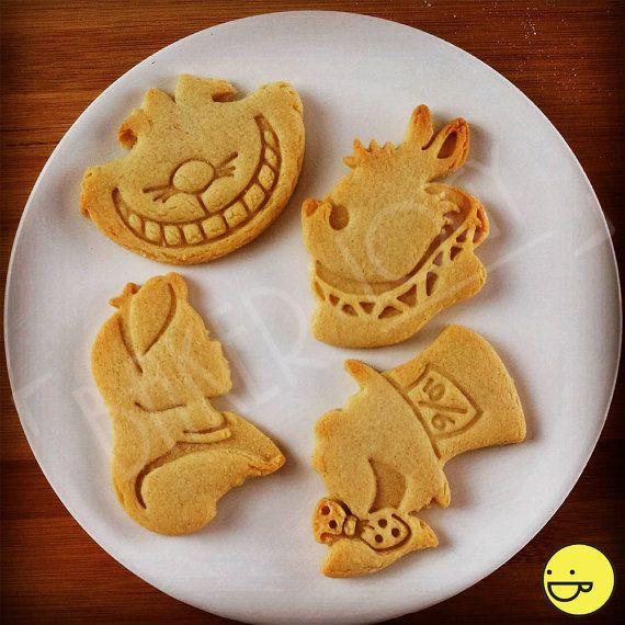 Alice im Wunderland inspirierte Cookies Schneidgeräte | Through the Looking Glass | Kekse-Schneidgeräte | bevorzugt man einen freundlichen Ooak Tea Party