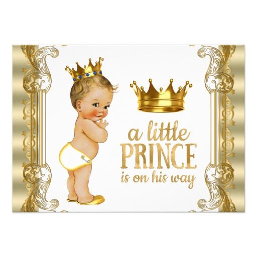 Gold Prince Baby Shower