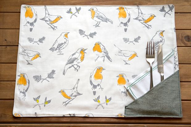 "SANTOLINA | illustration & textil » Manteles individuales ""Mesa para dos"""
