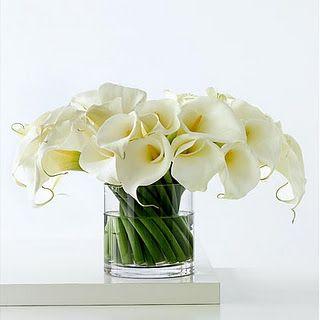 White calla lily centerpiece