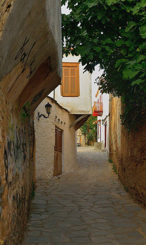 An alley.. Old Town of Naoussa, Greece (by jose luis naussa on Flickr)