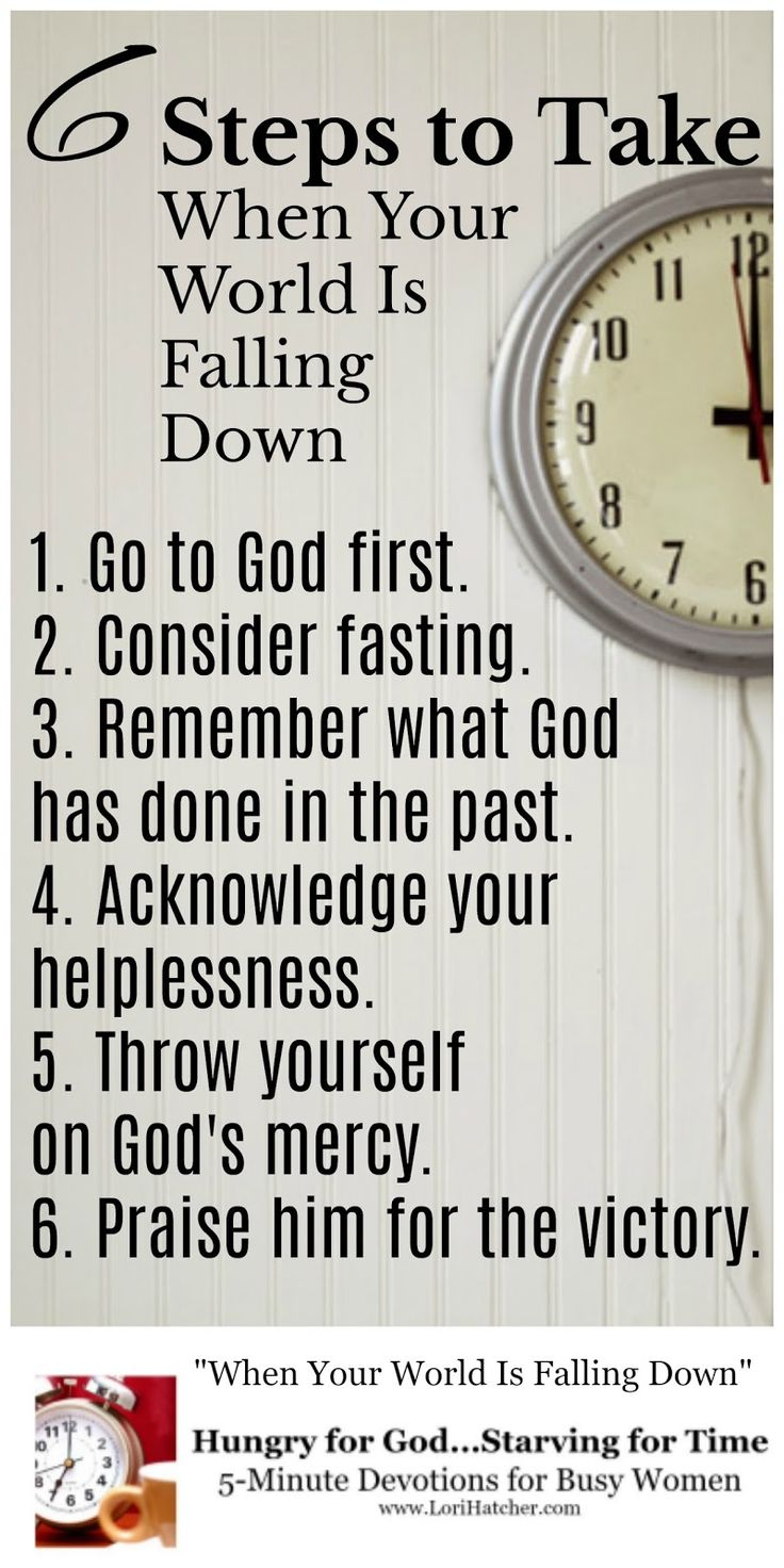 When life seems to be falling down around you, here are 6 steps to take to walk in faith and receive the victory God has for you. King Jehoshaphat shows us the way.