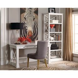 Johansson Antique White Bookcase Donny Osmond Home Free Standing Shelves & Bookcases Home