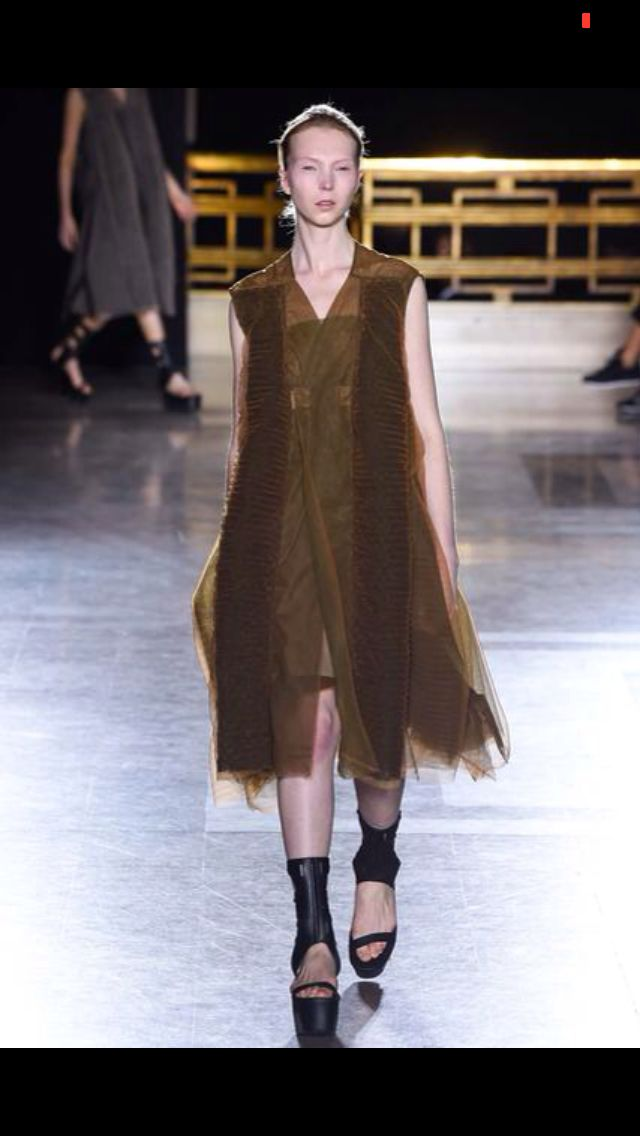 Rick Owens bringing olive into the mix. SS 15