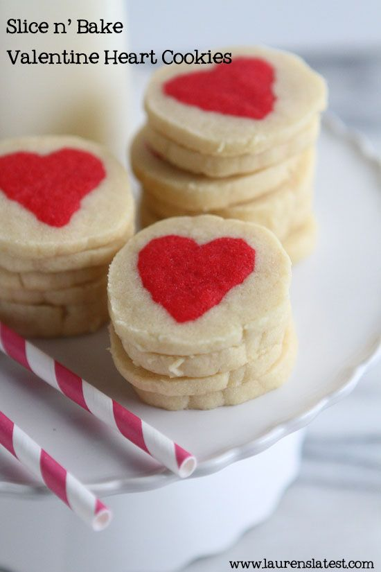 Slice n' Bake Valentine Heart Cookies Recipe
