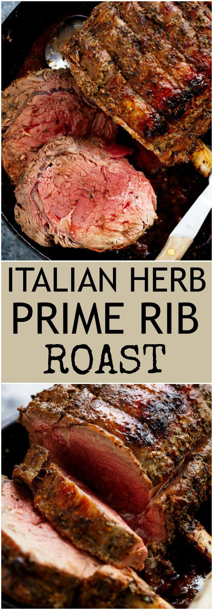 Italian Herb Prime Rib Roast is the perfect Christmas dinner, full of flavour and ready in under one hour! | https://cafedelites.com