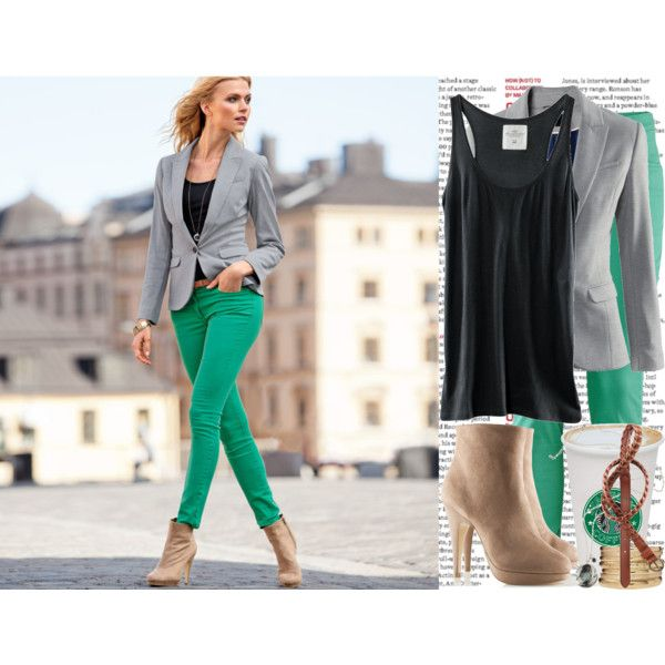 Trying to figure out how to style my new green pants