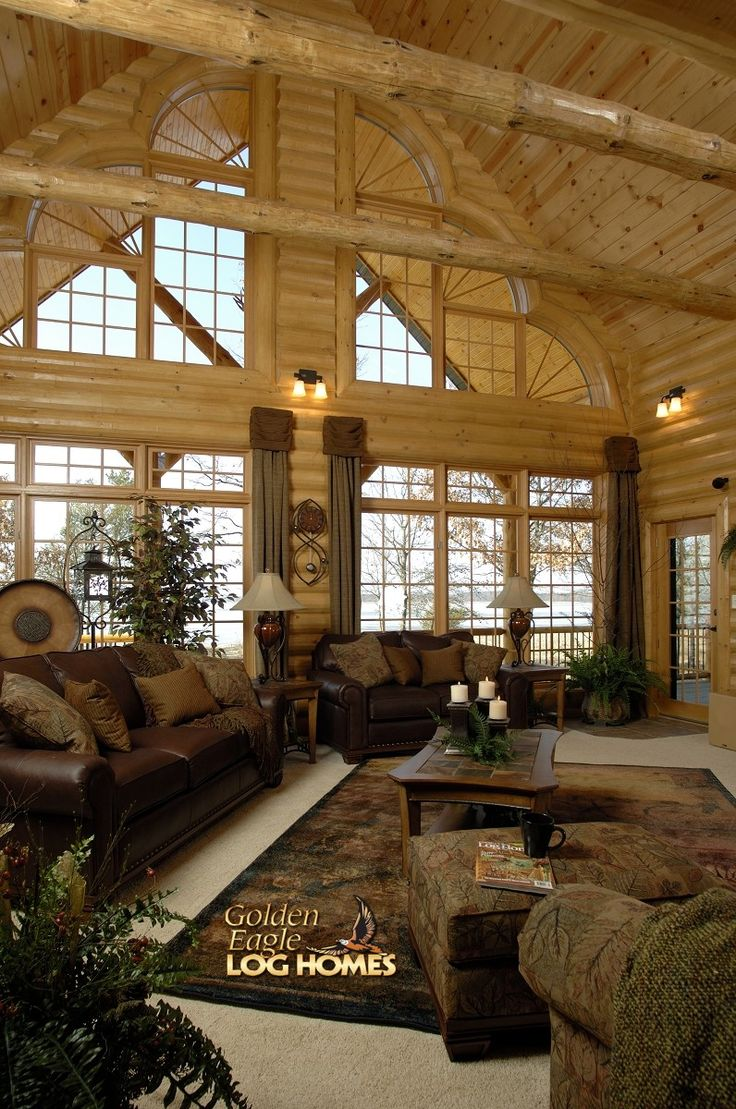 Best 145 Best Cabin Living Room Ideas Images On Pinterest Log 640 x 480