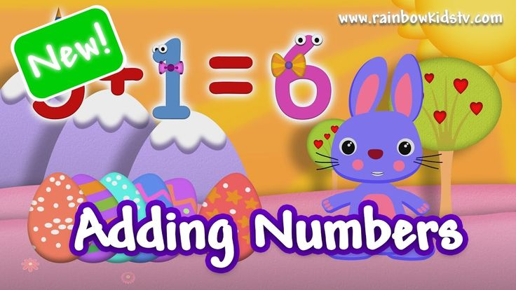 ♥ Easter Bunny ♥ Adding and Counting Numbers in English ♪