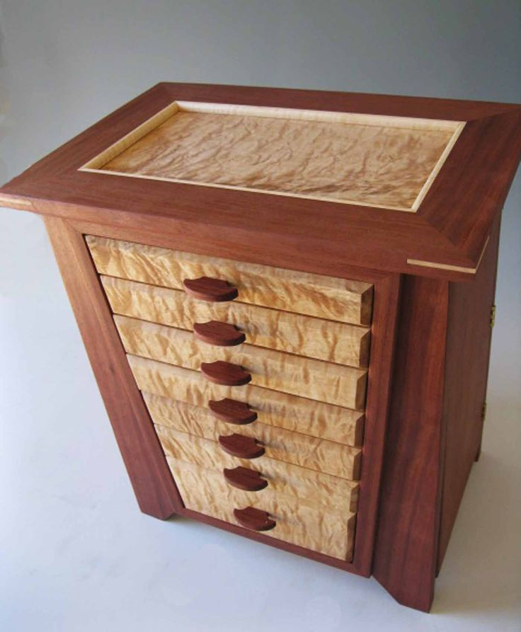 My Handmade Jewelry Boxes Are Made Of Exotic Woods; Each