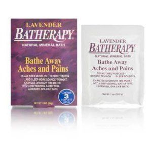 Queen Helene Batherapy Lavender Natural Mineral Bath 1oz/3 Packet by Queen Helene. $4.99. Buy Queen Helene Bath Salts Soaks - Queen Helene Batherapy Natural Mineral Bath Lavender: Relax tired muscles, reduce tension, and sleep more soundly at night Combined Lavender fragrance with exclusive mineral salts to give a unique spa-like bath, similar to those found in exclusive hot springs and spas around the world When it is dissolved in moderately hot water, it helps to r...
