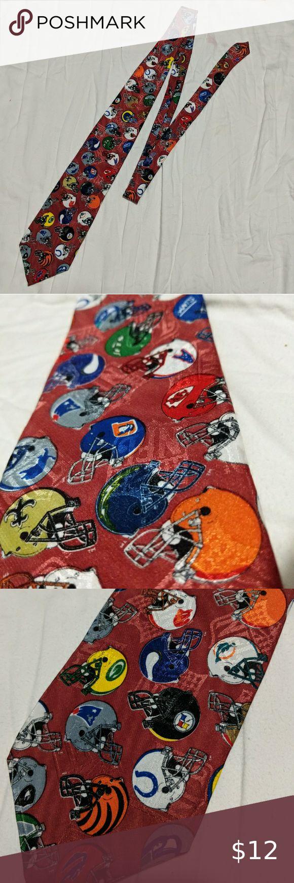 NFL Team Novelty Football Helmets Neck Tie in 2020