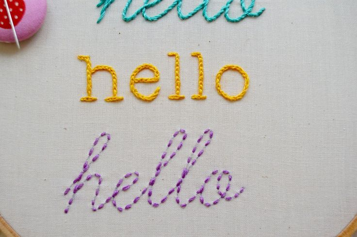 running stitch for letters