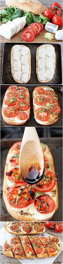 Margherita pizza with balsamic reduction. I would switch to sun dried tomatoes.