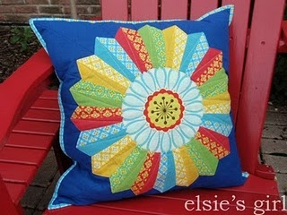 FiestaWare quilted pillow with zipper back for Lynn