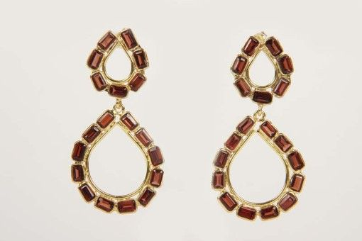 Earrings E00016 Gold plated Silver 925° stone Granada